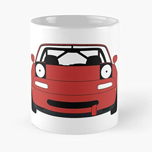 5TheWay Automotive Mazda Miata Car Convertible Mx5 Race Best 11 oz Kaffeebecher - Nespresso Tassen Kaffee Motive