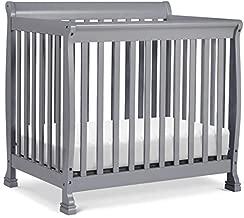 DaVinci Kalani 4-in-1 Convertible Mini Crib in Grey, Greenguard Gold Certified