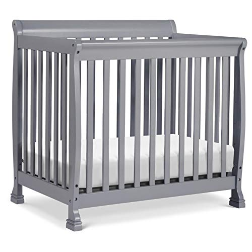 DaVinci Kalani 4-in-1 Convertible Mini Crib in Grey | Greenguard Gold Certified