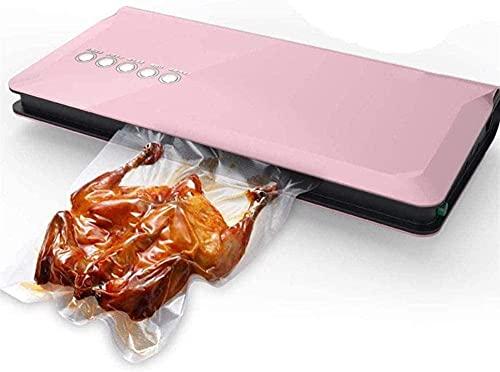 LSDRALOBPOI Envasadora al vacío automática Sellador al vacío Automático Sellador al vacío Profesional, conserva y almacena Alimentos Compatible con Wet and Dry-Pink 728(Color:Pink)