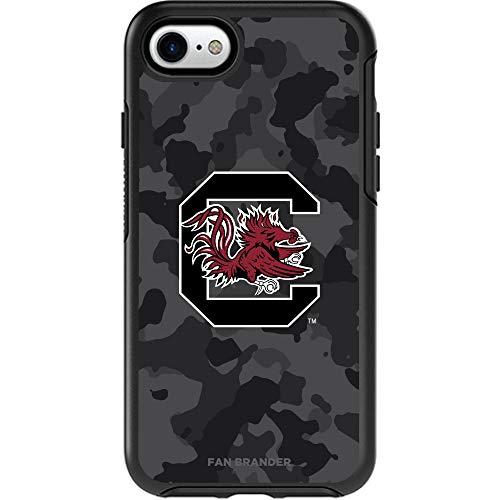 Fan Brander NCAA OtterBox Symmetry Phone case with Urban Camo Design (South Carolina Gamecocks iPhone 8 Plus & iPhone 7 Plus)