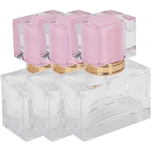 Botella de spray de perfume de contenedor de maquillaje portátil recargable para loción de cuidado de la piel para maquillaje de bricolaje(Pink)