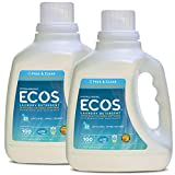 Earth Friendly Products Ecos 2x Liquid Laundry Detergent, Free & Clear, 100 Fl Oz (Pack of 2)