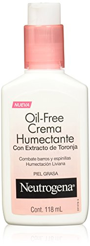 Neutrogena Oil Free Crema Humectante Combate Barros y Espinillas, 118 ml