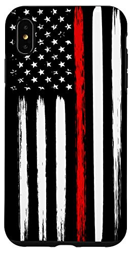 iPhone XS Max Firefighter Phone Case Thin Red Line American Flag Fireman Case