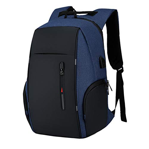 Business Travel Laptop Backpacks, Large Water Resistant Business Computer Bag with USB Charging Port Durable School Bookbag Computer Bag for Men Women Fits 17.3 Inch Laptop,B