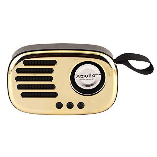 Apollo Plus Portable Bluetooth 5.0 Extra Bass Stereo Speaker with FM Radio TWS Function, TF Card Slot, USB Port, Micro SD Card Slot, Built-in Mic, AUX Input, Clear Bass Sound (Random Colour)