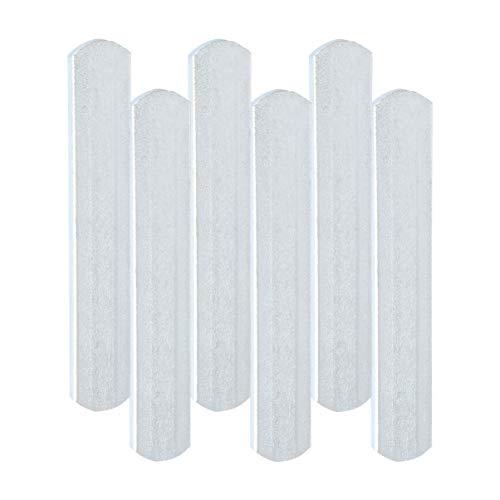 BESPORTBLE 6 Stück Stahlplatten für Gewichtsweste Fitness Gewichtsplatten für Krafttraining Joggen Sport Laufen Fitnessstudio (Silber)