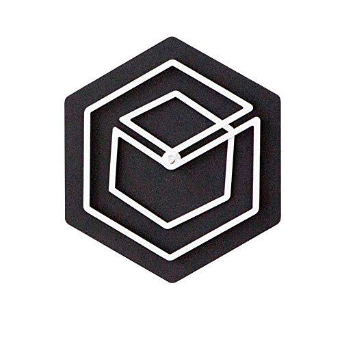 Estilo Europeo Reloj de Pared Decoración Espiral Simple Silencio Sin Goteo Círculo geométrico Creativo Europeo Simple Reloj silencioso Regalo, Familia, Oficina, Dormitorio Infantil, Sala de
