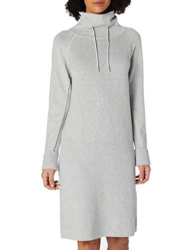 edc by ESPRIT Damen 120CC1E317 Kleid, 044/LIGHT Grey 5, S