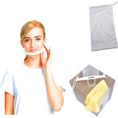 Gambi Protector Facial Plastico Transparente 1 Unidad Máscarilla Boca Nariz Plastico Antiniebla Cliu Mascara Escudo Transparente Protector Facial (1)