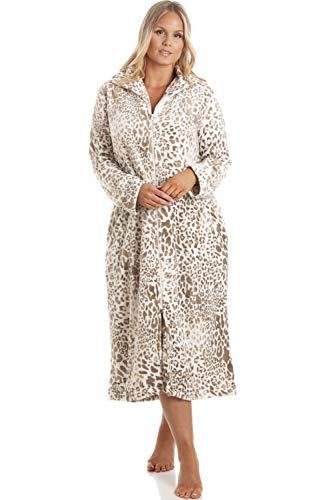 Camille Mujeres Supersoft Polar Animal Print Loungers 46-48 Beige