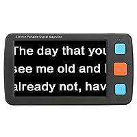 5インチ液晶 デジタル拡大鏡 電子ルーペ ,4-32Xに拡大 ,高画質TV出力(HDMI)品質改善 高画質 多機能 携帯型 ちルーペ 虫眼鏡 クッキリ ストレスフリー , 高齢者用新聞や雑誌などを拡大して見やすく,両親に贈ることができる贈り物