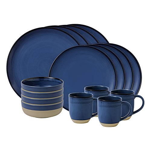 Royal Doulton brossé Glaze Bleu foncé, Lot de 16
