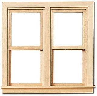 Dollhouse Miniature 1.3cm Scale Traditional Side-by-Side Window