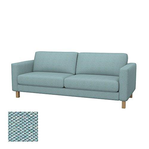 Soferia Bezug fur IKEA KARLSTAD 3er-Bettsofa, Stoff Nordic Sea Green
