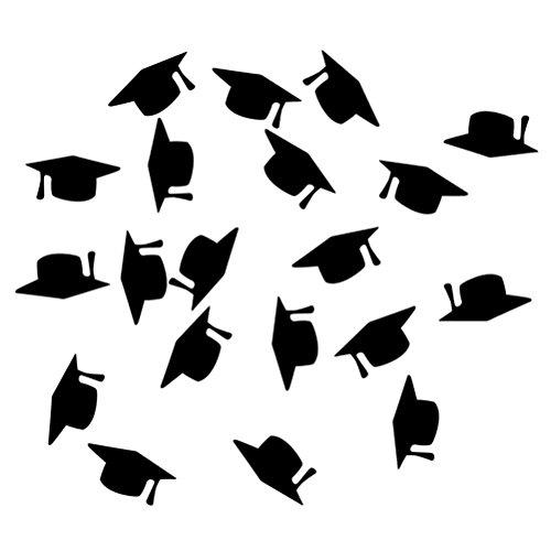Amosfun Abschluss Konfetti Doktor Hut Kuchen Topper Cupcake Picks Tischkonfetti Streudeko Tischdeko für Graduierung Deko Abschluss Party Dekoration 12 Stücke