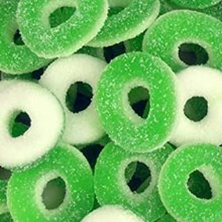Green Apple Gummi Rings 2.5 Pounds Pounds Bag