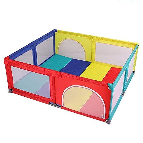 XBXD Centro de Actividades para Parque de Juegos de bebé, Valla de Seguridad expandible para niños pequeños 180 x 190 x 70 cm