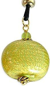 SunTradition Colgante cebolla verde de cristal de Murano de Venecia