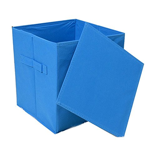 Caja amarilla plegable de almacenaje