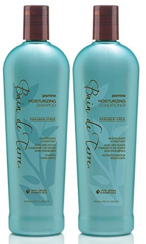 Bain De Terre Jasmine Moisturizing Shampoo and Conditioner for Dry Hair, 13.5 Ounce Value Pack!
