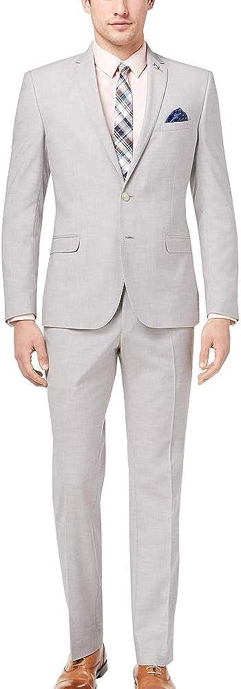 Men's Suit Slim-Fit Stretch Elegant Solid Single Breasted Party Blazer Pants Set