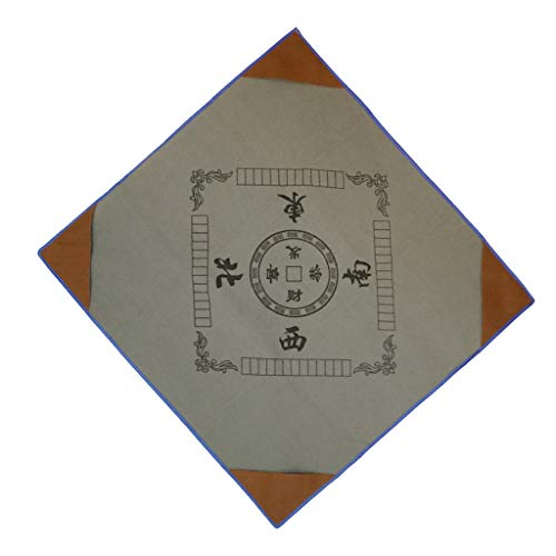 LoveinDIY 1pc Silence Mahjong Mat Paigow Card Game Table Cover Anti-Slip W/ - Gray, 37x37inch