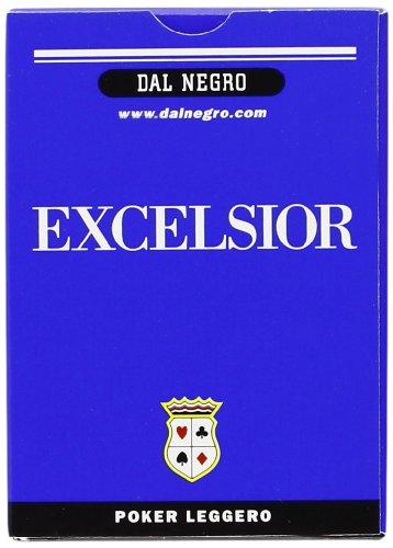 Dal Negro 21009 - Poker Excelsior Singolo Astuccio Blu, Carte da Gioco