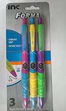 Forma Ball Point Retractable Black Ink W/Multi Colored Barrel 1 Pack Of 3 by FORMA