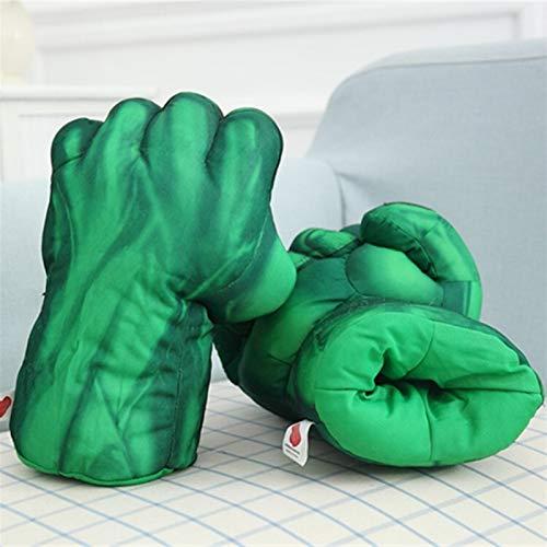 Maria-UK The New Hulk Spider-Man guante guante guante equipo de Estados Unidos Thanos Marvel guantes de peluche juguetes de regalo para niños (color: 2)
