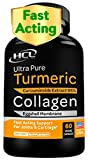 Collagen & Turmeric Curcumin Capsules - Extra Strength Joint Supplement - Eggshell Membrane w Naturally Occurring Glucosamine Chondroitin Hyaluronic Acid for Fast Pain Relief Knee Pain & Joint Health