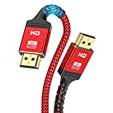 HDMI ケーブル【4K60Hz/保証付き/18gbps高速イーサネット】ALLEASA HDMI2.0規格 PS4/3,Xbox, Nintendo Switch, Apple TV, Fire TV PC対応(5M, 赤)