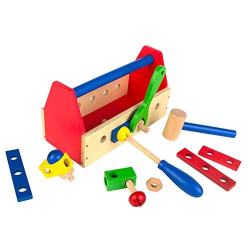 Colorbaby - gereedschapskist van hout - 18 delen (42751)