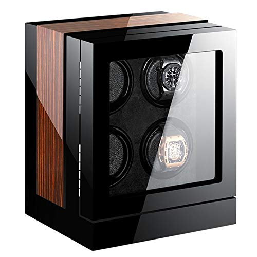 WERTYG Enrollador Automático Inteligente para Relojes 2/4/6/9/12/24 con Pantalla Táctil TPD De Motor Ultra Silencioso y Retroiluminación Azul (Size : 4+0)