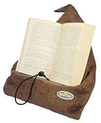 Pillow book holder for reading in bed