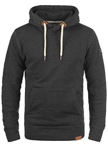 !Solid TripHood Herren Kapuzenpullover Hoodie Pullover Mit Kapuze Und Fleece-Innenseite, Größe:XL, Farbe:Dark Grey Melange (8288)