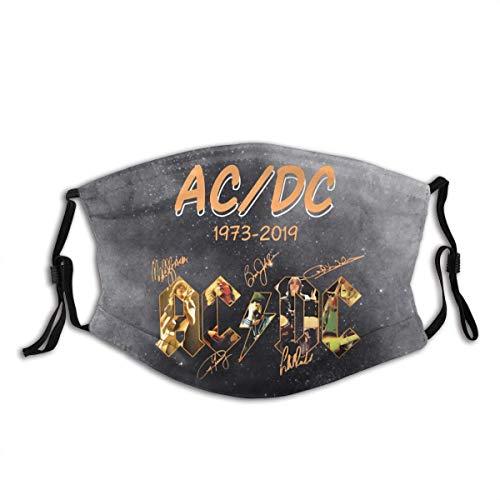 ACDC Masque de protection anti-poussière pour adulte lavable et réutilisable avec filtre à charbon actif