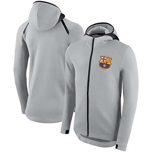 WEF Herren/Damen Reißverschluss Trikot, Barcelona-Anssumane Fati # 22 Sweatshirt Lässig Leichte Langarm Hoodie Jacke S-XXXL, Schwarz (Color : Gray-1, Size : Medium)