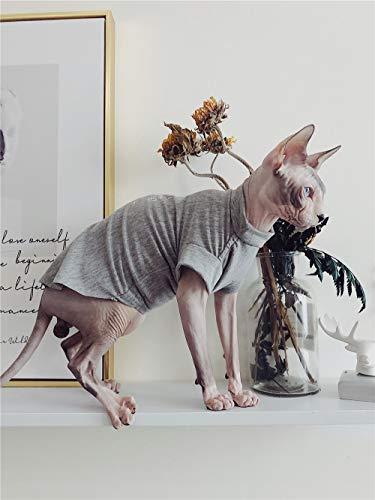 HCYD Graue Katze Kleidung Sphinx Katze Haustierkleidung Sommer Sonnencreme, grau, XL