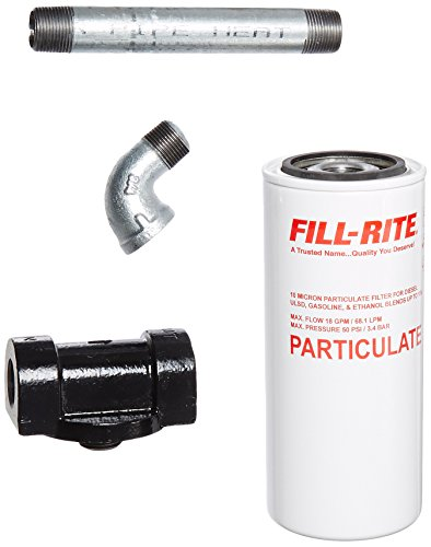 FILL-RITE, 1200KTF7018, PARTICULATE Filter KIT F/1210, 3/4'-18 GPM-10 Micron