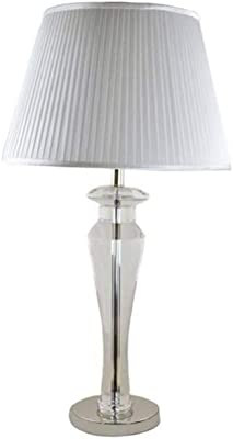 Lampada da tavolo JFHGNJ Lampada da tavolo in cristallo in metallo Lampada da tavolo in cristallo in stile elegante Lampada da tavolo per soggiorno