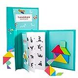 qingqingR96 Puzzles Magnetic Tangram Kinderspielzeug Montessori Educational Magic Book Suit