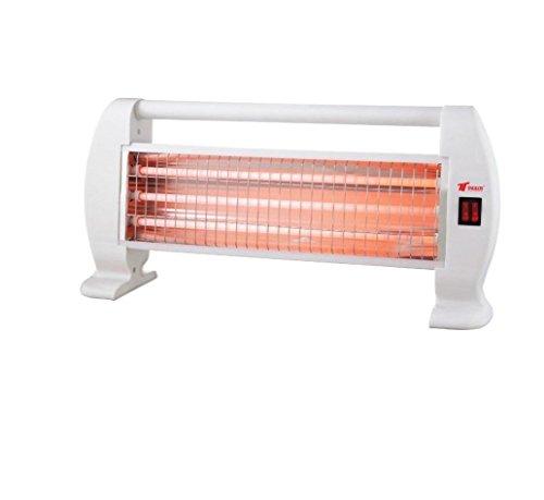 Estufa 1200W 3 Tubos de Cuarzo 1200W Calefactor Calentador Radiador Halogeno Calor para el hogar
