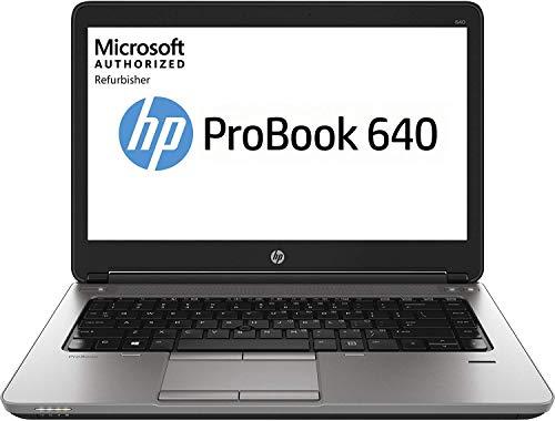 HP Ordenador portátil ProBook 640 G1 de 14 pulgadas, Intel Core i5, 8 GB de RAM, 128 GB SSD, Win10 Home (renovado)