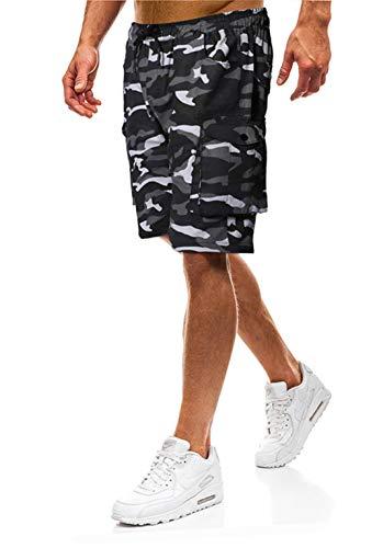 Lantch Herren Shorts Herren Kurze Hose Shorts Männer Shorts Herren Sweatshorts Sportshorts Camouflage (Camouflage, XL)