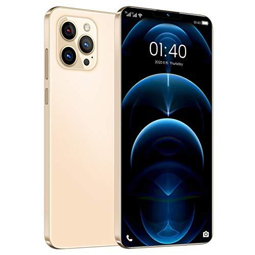 Homfure Teléfono Inteligente con batería de Iones de Litio de Alta Densidad de 5200 mAh - Teléfono con Doble SIM y Doble Modo de Espera Phone12 Pro MAX admite reconocimiento Facial