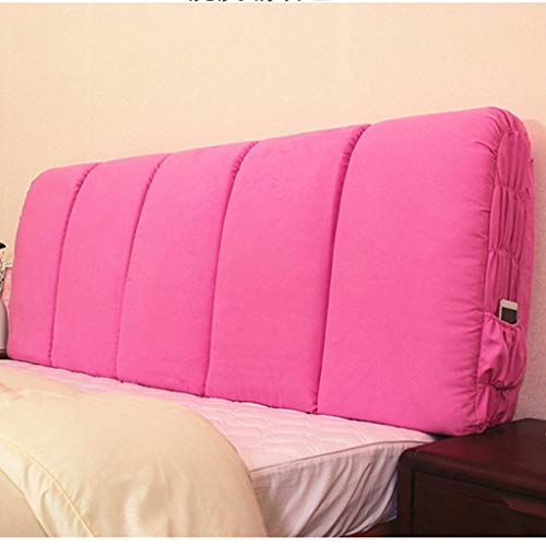 HYBB Double Backrest Pillow Suede Fabric Soft Skin-Friendly Suitable for Sofa Bed,Best Gift for Parents and Children,125x60cm (Color : Pink, Size : 125x60cm)