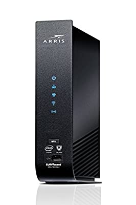 ARRIS Surfboard (24x8) DOCSIS 3.0 Cable Modem Plus AC2350 Dual Band Wi-Fi Router, Approved for Cox, Spectrum, Xfinity & More (SBG7400AC2-RB) (RENEWED), Black, Max Download Speed: 1000 Mbps