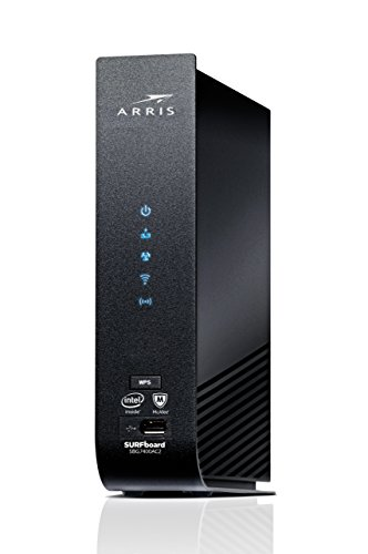 ARRIS SURFboard (24x8) DOCSIS 3.0 Cable Modem Plus AC2350 Dual Band Wi-Fi Router, approved for Cox, Spectrum, Xfinity & more (SBG7400AC2-RB) Black, Max Download Plan: 600 Mbps (Renewed)